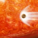 Hungry Red Giant: First evidence discovered of a planet's destruction by its star.