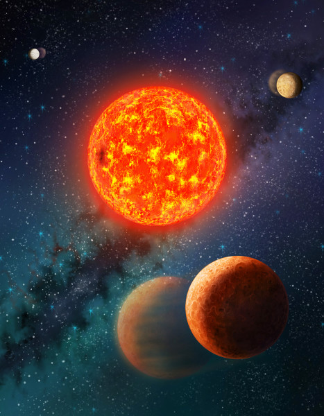 Artist Impression of Kepler-138