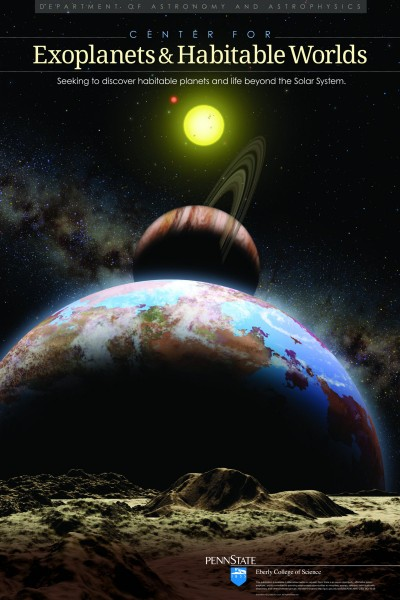Artist portrayal of extrasolar planetary system