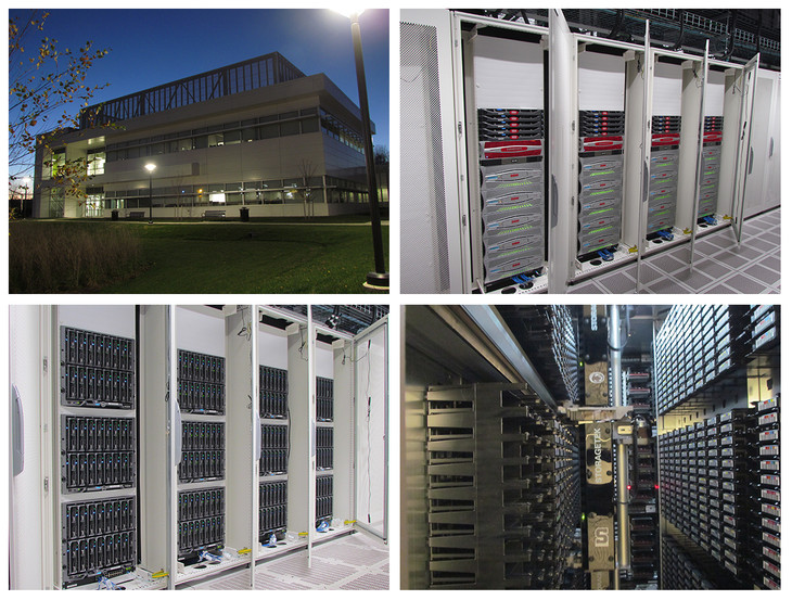 Image of Tower Road Data Center, compute nodes, and storage systems