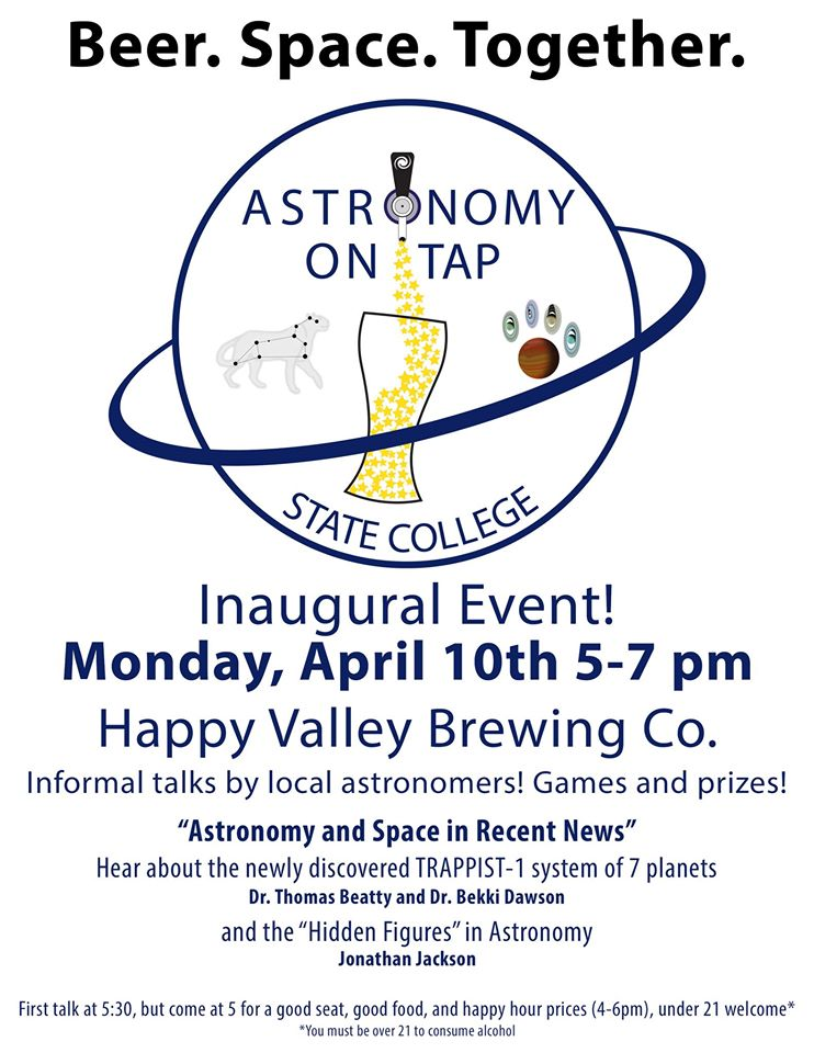Astronomy on Tap 2017 April